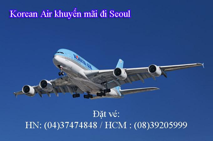Korean Air giảm giá vé máy bay đi Seoul